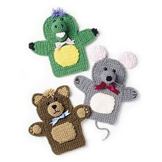 Ravelry: Puppet Friends pattern by Estella Whitford. Crochet Magazine, Fall 2010: Celebrate the Season.