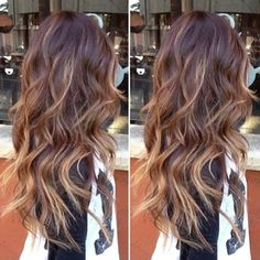 Ombre with highlights @Sandra Vanderbeck Heyrich Villalta-Ordonez this is what i want!!