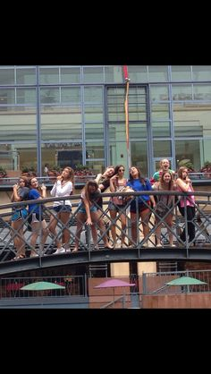 Posed picture with the team! On the San Antonio river walk