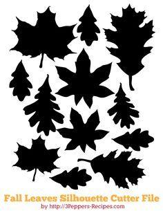 Fall Leaves - Free Cutting File #Silhouette #CutFile