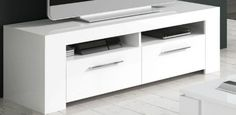 TV Stands White Stylish Modern Cabinet Soft Gloss LCD Stand Unit Cupboard Mounts