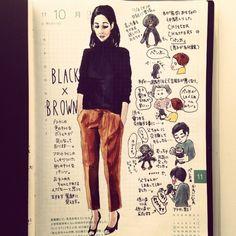 *Watercolor fashion style #illustration
