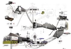concept collage idea? Psychogeographical map of Amsterdam- Frank Dresme