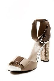 Cuff Heeled Sandal - Front cropped