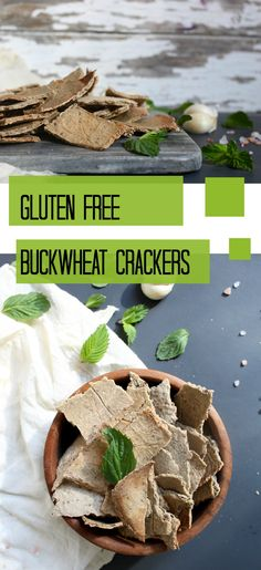 Gluten Free Buckwheat crackers that are perfect with dips, hummus, or to enjoy with soup.  #vegan #glutenfree #snack
