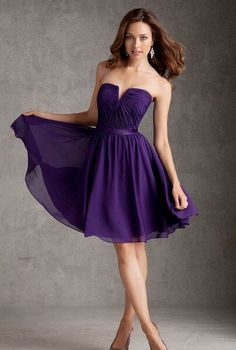 strapless short bridesmaid dress.jpg