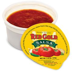 NEW RED GOLD® 2.6 OZ SALSA DIPPING CUPS HELPS SCHOOLS MEET THE RED/ORANGE VEGGIE REQUIREMENT