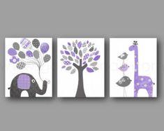 Nursery wall art baby nursery decor nursery print by MonkieBirdie