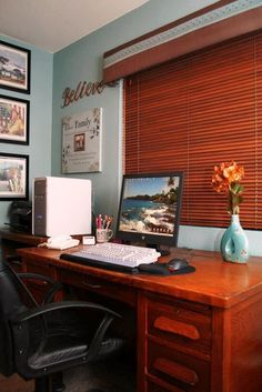 """""""My home workspace where the writing (and often grading) happens on my grandma's antique desk Antique Desk, Space Photos, Corner Desk, Photo Contest, Antiques, Favorite Things, Writing, Furniture, Twitter"""