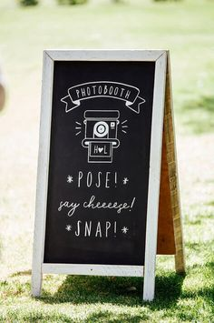 Photobooth Chalkboard   #chalkboard #weddingsignage #photobooth #handchalked #wedding #capetownwedding