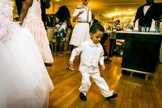Little boy dancing at a Glen Terrace wedding  #wedding #BrooklynWedding #weddingphotographer #weddingphotography #GlenTerrace
