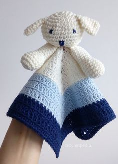 Puppy Baby Lovey – Free Tutorial – Your Crochet Crochet Lovey Free Pattern, Crochet Blanket Patterns, Baby Blanket Crochet, Baby Patterns, Free Crochet, Crochet Geek, Beginner Crochet, Easy Crochet, Snuggle Blanket