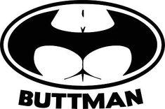 Buttman batman logo bum #vinyl decal sticker car van bike #funny #window bumper j,  View more on the LINK: http://www.zeppy.io/product/gb/2/172162330099/
