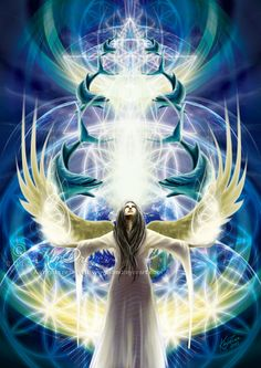 Spread Your Wings Earth Angel - Sacred Light Visions - The Art of Kim Dreyer
