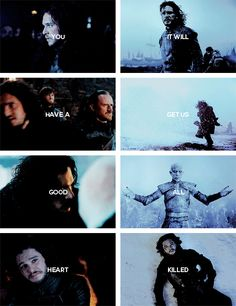 Jon Snow: For the watch.  #asoiaf