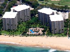 The Kaanapali Alii - Aerial views of this fantastic Maui vacation rental accommodations for the family or even a honeymoon getaway. Hawaii Vacation Time!