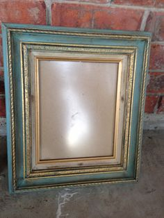 Gold wooden frame distressed in a gorgeous by Distress2Perfection, $30.00 gorgeous Gold Wooden frame Painted and Distressed with Annie Sloan Provence color chalk paint