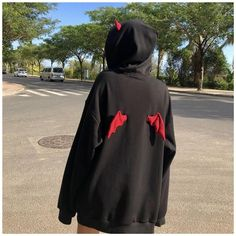 Edgy Outfits, Cute Casual Outfits, Fashion Outfits, Hoodie Sweatshirts, Mode Streetwear, Cool Hoodies, Cheap Hoodies, Kawaii Clothes, Aesthetic Clothes