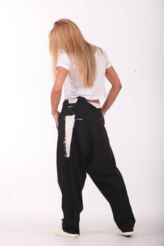 New Drop Crotch Pants  Paradox  Black Pants  Casual Pants  Women Black Pants  Summer Pants  Chic Pants PP0611