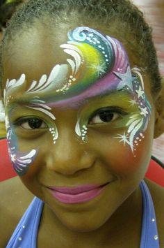 Marcela Murad || crown #mermaid #waves #water face paint