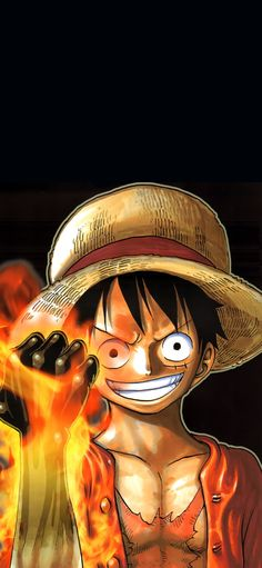 luffy on fire One Piece Anime, Ace One Piece, One Piece Luffy, Anime Disney, Anime Echii, Anime One, Anime Tatoo, One Piece Wallpaper Iphone, News Wallpaper