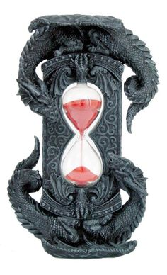 Double Dragon Red Sand Timer [9387] - $22.99 : Mystic Crypt, the most unique, hard to find items at ghoulishly great prices!