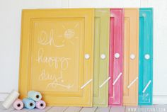 How to chalkboard any surface in any color, so easy!
