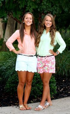 Cute spring shorts and button down tops! #spring #fashion #style #mamaofdrama