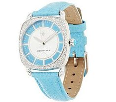 Judith Ripka Stainless Steel or Goldtone Sleeping Beauty Turquoise Watch
