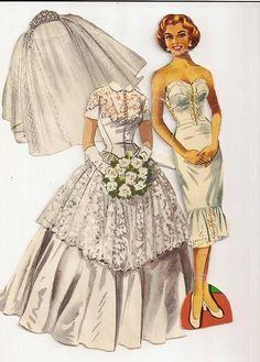 vintage paper doll . . great idea for an historical fashion illustration project, to show the undergarments too . .