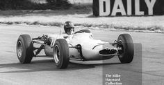 Graham Hill on the way to 3rd place in John Coombs F2 Lotus 35 BRM 71, Oulton Park Gold Cup, 1965