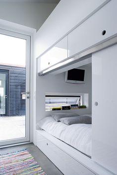 modern alcove bed in Denmark | via Bo Bedre