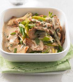 Low Carb Schweinegeschnetzeltes | 539 kcal, 35 g Eiweiß, 40 g Fett, 8 g KH