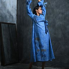 Buy An Exuberant Touch VINEETRAHUL Block-printed wool separates with delightful hints of embroidery Online at Jaypore.com Kebaya Simple, Embroidery Online, Shopping Coupons, Separates, Female Fashion, Womens Fashion, High Neck Dress, Wool, December