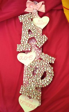 Staying in on the weekend to make the perfect paddle with the perfect amount of rhinestones for your perfect big. TSM.