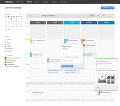 Content Calendar – Amy Guan, via Dribbble