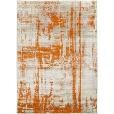 Dahl Light Gray/Burnt Orange Area Rug