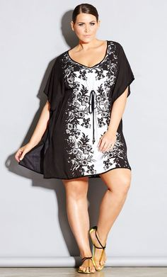 MONACO KAFTAN Big beautiful curvy women, real sizes with curves, accept your… Plus Size Summer Outfit, Plus Size Summer Dresses, Plus Size Outfits, Summer Outfits, Plus Size Bikini Bottoms, Women's Plus Size Swimwear, Looks Plus Size, Look Plus, City Chic