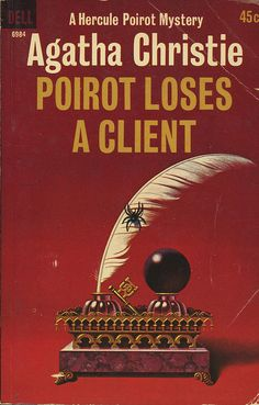 Agatha Christie mystery book-Poirot Loses A Client