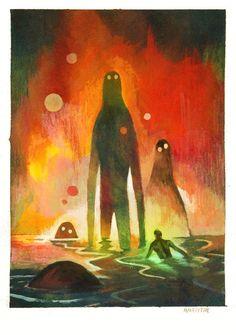 Aliens? Bad Dreams? Amazing illustration by Matt Forsythe