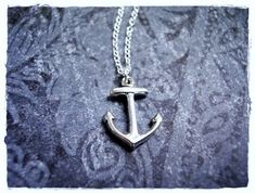 Silver Anchor Necklace  Sterling Silver Anchor Charm on a