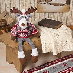 Fair Isle Plush Reindeer