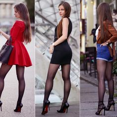 Summary of 2016 years - 88 styling Best Outfit For Girl, Black Pantyhose, Great Legs, Hot Pants, Beautiful Legs, Tight Dresses, Sexy Legs, Leather Skirt, Vestidos