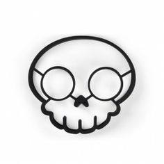 """""""Funny Side Up Skull"""" Egg Corral by Fred & Friends"""