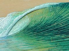 Close up. wave paintings and surf art by Nathan Ledyard