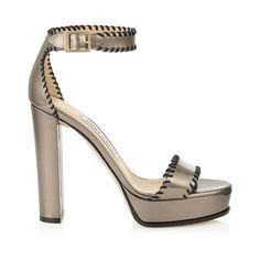 Pyrite Mirror and Black Nappa Leather Platform Sandals HOLLY 120 (13.605 ARS) ❤ liked on Polyvore featuring shoes, sandals, black platform shoes, kohl shoes, black shoes, black platform sandals and black sandals