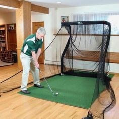 The Net Return Mini Pro Package Golf Net and Mat