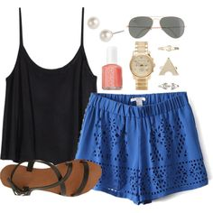A fashion look from July 2014 featuring H&M tops, Joie A La Plage sandals and Michael Kors watches. Browse and shop related looks.