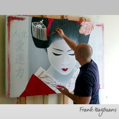 Geisha Painting by Dutch Portrait Artist © Frank Wagtmans. Gorgeous Geisha fine art paintings by Dutch Artist © Frank Wagtmans. 100% hand-made portraits. Exclusive art. Only one copy exists of each artwork. Every painting is exclusive and personally signed by the artist.  #geisha #maiko #portrait #painting #art #artist #portraitpainter #portraitartist #portraiture #interiordesign #interiordesignideas #schilderij #kunstwerk #portret #portretschilder #kunstinopdracht #kunst #portretkunst