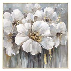 Art Floral, Abstract Flower Art, Flower Painting Canvas, Oil Painting Flowers, Diy Canvas Art, Canvas Wall Art, Abstract Paintings, Canvas Crafts, Flower Oil